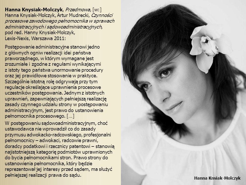 Hanna Knysiak-Molczyk, Przedmowa, [w:]